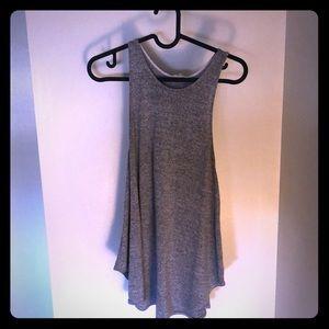 A gray blouse